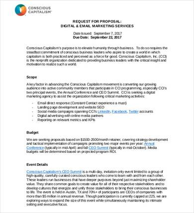 email marketing services proposal template