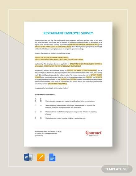 employee survey template