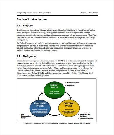 enterprise operational change management plan template