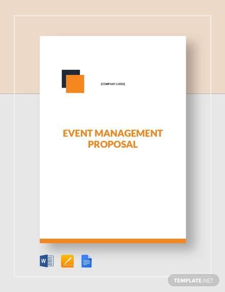 event management proposal template