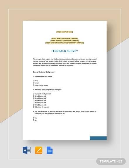 feedback survey template