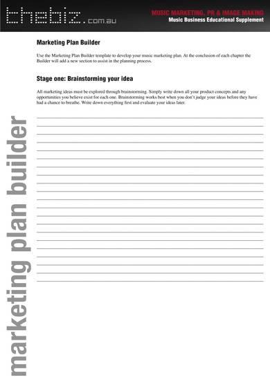 free music marketing plan template