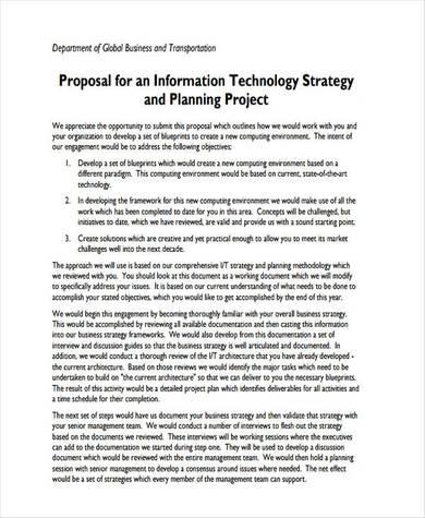 information technology business proposal sample