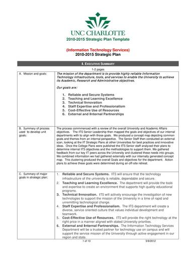 information technology services strategic plan template 01