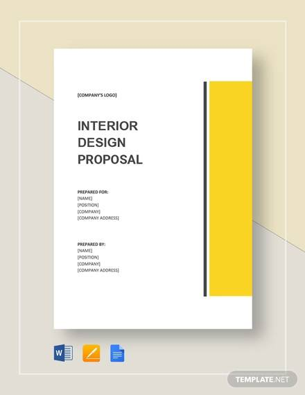 sample interior design proposal template
