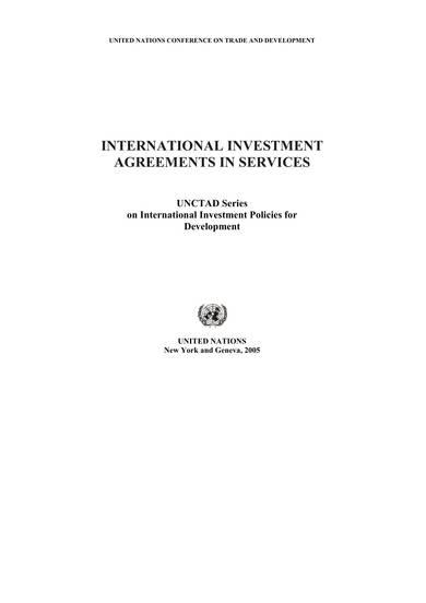 international investment agreement sample 001