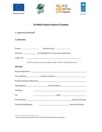 ngos project proposal template 01