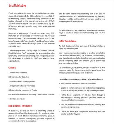 perfect email marketing proposal template