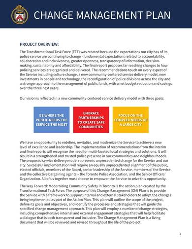 police change management plan sample template