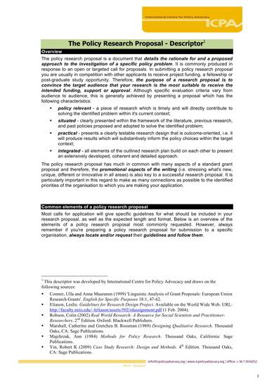 policy research proposal temlpate