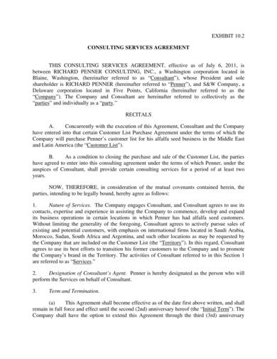 printable consulting services agreement sample 1