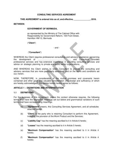 professional consulting services agreement sample 1