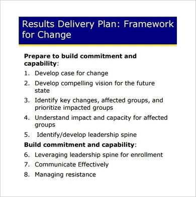 project change management plan template