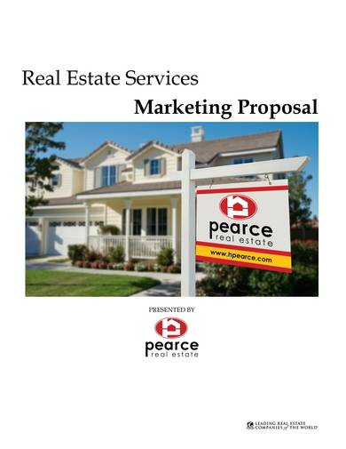 real estate services marketing proposal sample