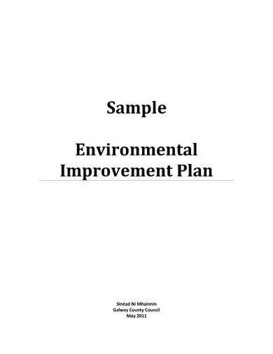sample environmental improvement proposal temlpate