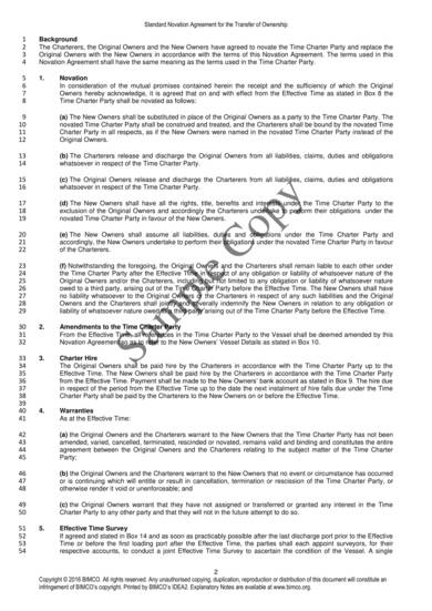 sample novation agreement template 2