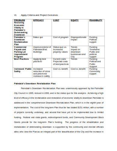 sample policy analysis template