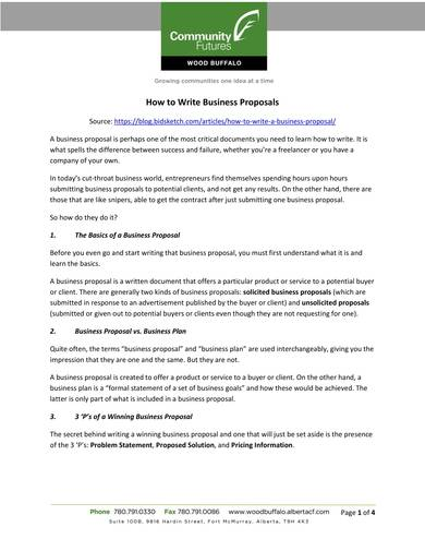 sample professional business proposal template