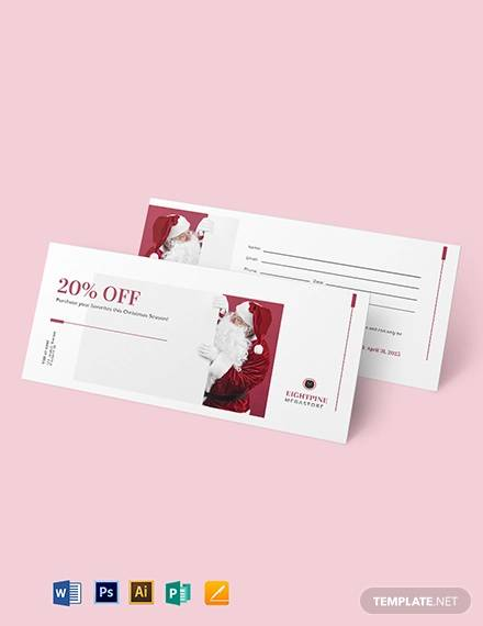 santa claus voucher template