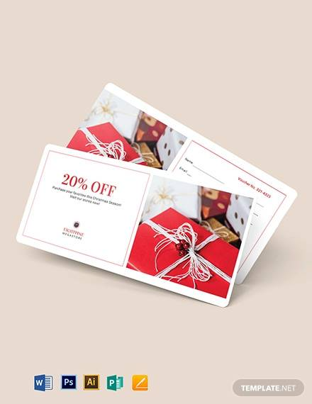 simple christmas voucher template