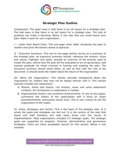 simple it strategic plan outline template 1