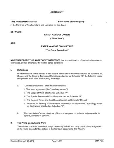 standard consultanting services agreement sample 02