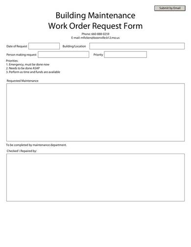 building maintenance work order request form 1