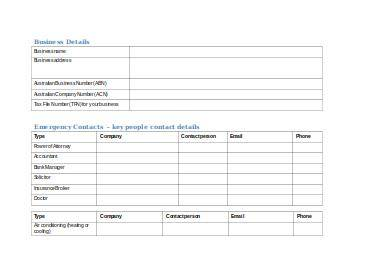 crisis planning for business templates and checklists