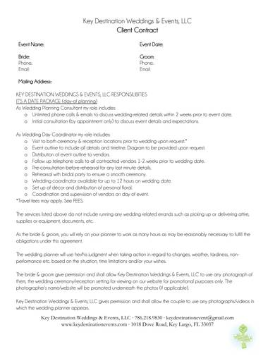event planning client contract sample 1