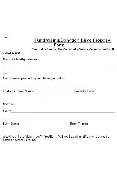 fundraising proposal sample in ms word