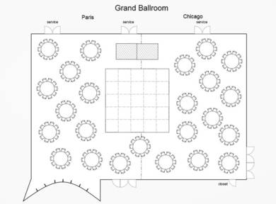 grand ballroom wedding seating chart