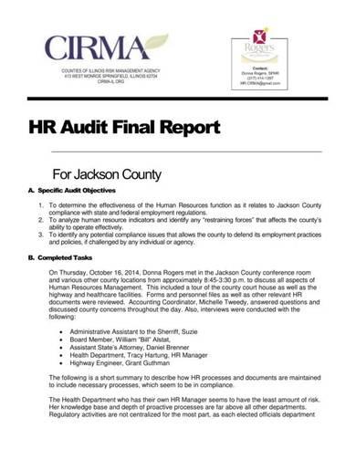 hr audit final report