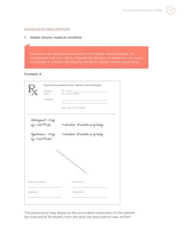 individual physician prescription sample