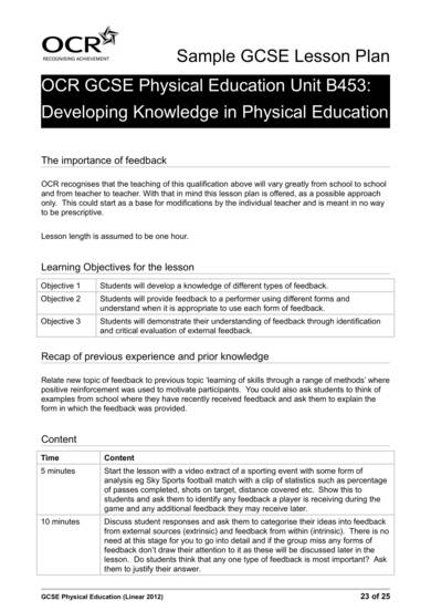 physical education sample lesson plan and booklet 23