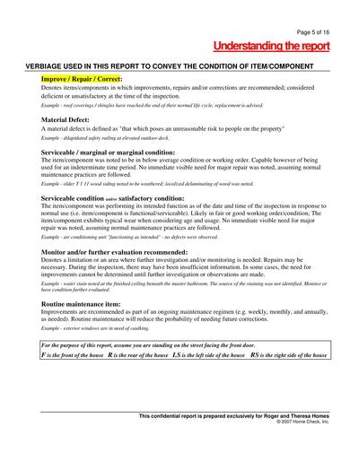 printable building inspection report 03