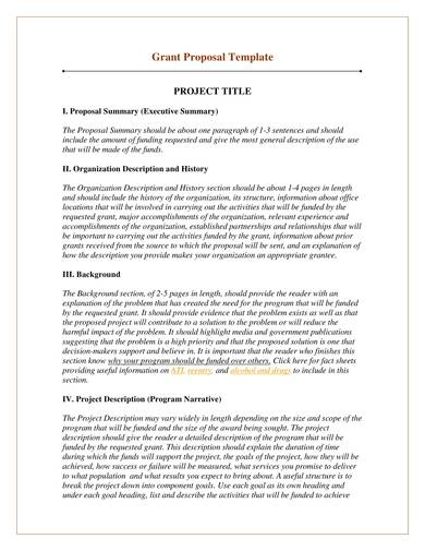project fundrasing proposal template