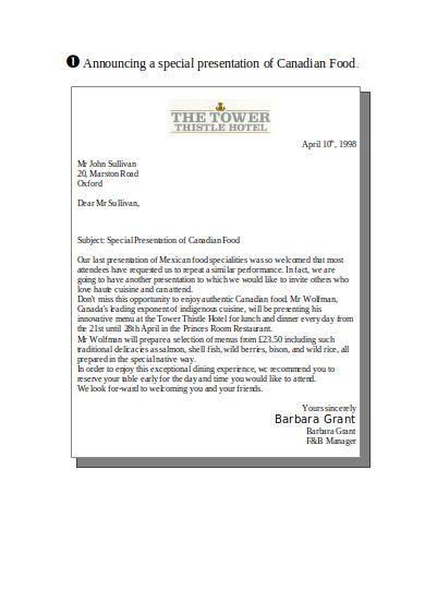 sales promotion letter sample