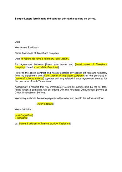 Timeshare Cancellation Letter Template from images.sampletemplates.com