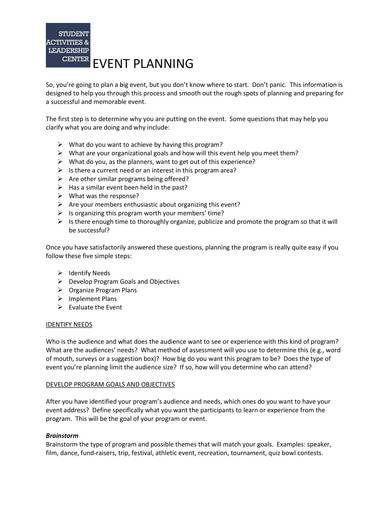 sample event planning contract template 1