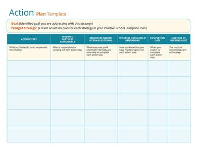 writable action plan template 1