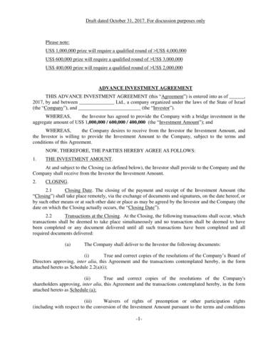 advanced investment contract sample