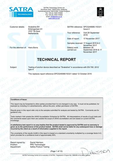 anchor device technical report sample