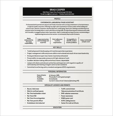 apprentice carpenter resume sample
