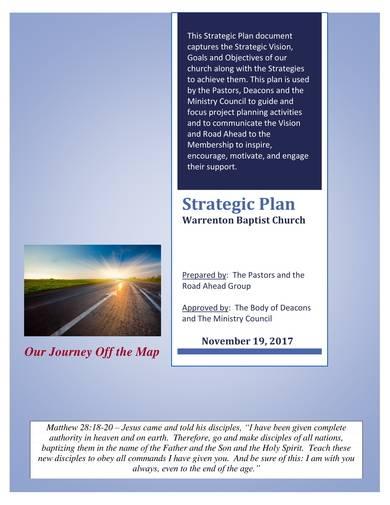 baptist church strategic plan sample