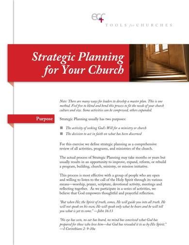 church strategic planning sample