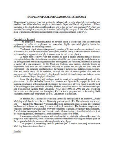 classroom technology proposal sample
