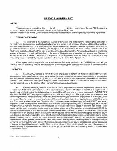 client outsourcing services agreement 1