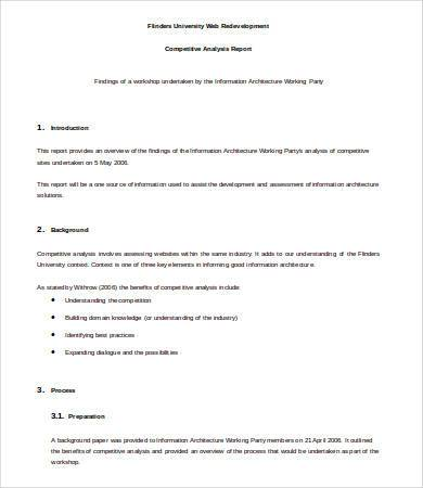 competitive analysis report template