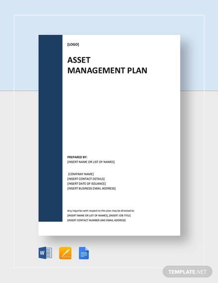 corporate asset management plan template