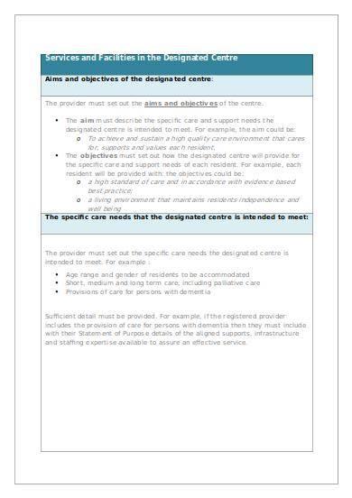 dcop statement of purpose template
